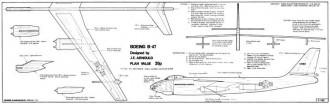 Boeing B-47 glider model airplane plan