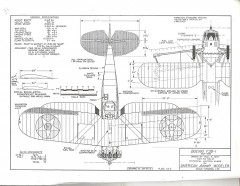 Boeing F3B-1 model airplane plan