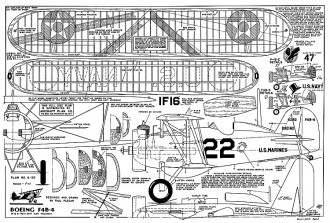 Boeing F4B-4 Plecan model airplane plan