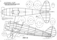 Boeing P-26 model airplane plan