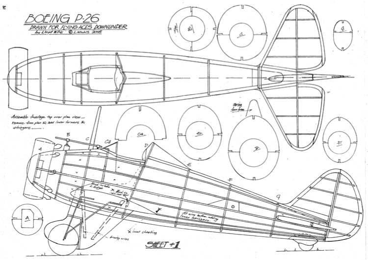 Boeing P-26 model airplane plan