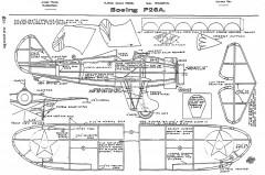 Boeing P-26A Peashooter model airplane plan