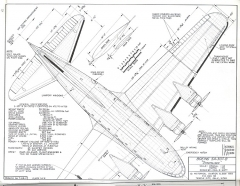 Boeing SA-307-B model airplane plan