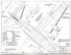 Boeing SA-307-B model airplane plan