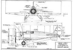 Boeing XF-7B-1 model airplane plan