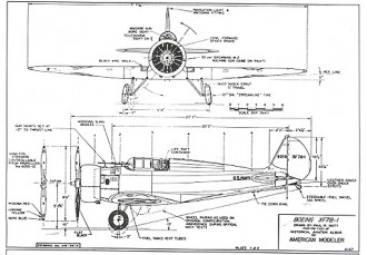 Boeing XF-7B-1 model airplane plan
