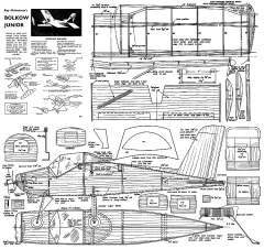 Bolkow Junior model airplane plan