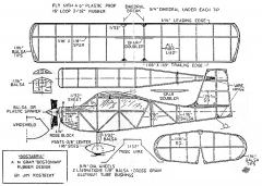 Bostabria model airplane plan