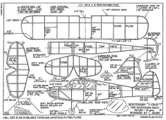 Bostonian T-craft model airplane plan