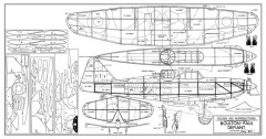 Boulton-Paul Defiant model airplane plan
