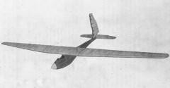 Bowlus model airplane plan