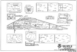 Box Bipe II RCM-992 model airplane plan