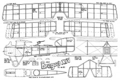 Breguet XIV model airplane plan