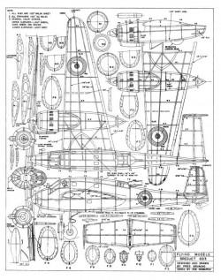 Breguet 693 model airplane plan