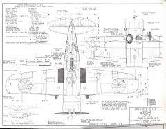 Brewster F3A-3 model airplane plan