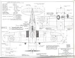 Brewster F3A-3 model airplane plan