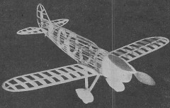 Brown B3 model airplane plan