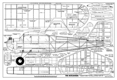 Buccaneer 84in model airplane plan