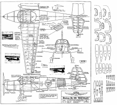 Bucker Bu-181 Bestman-1 model airplane plan