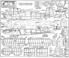 Bucker Jungmeister model airplane plan