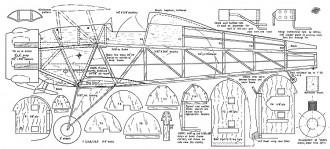 Bucker Jungmeister CL model airplane plan