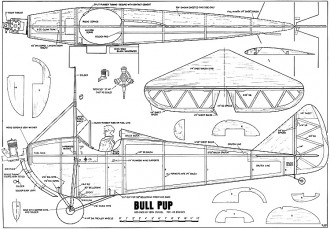 Buhl Bull Pup 76in model airplane plan