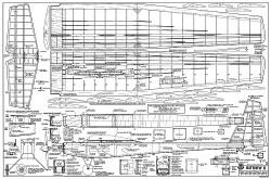Butterfly II RCM-721 model airplane plan