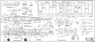 CAT RCM-1073 model airplane plan