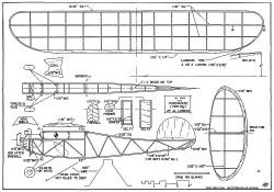 CO2 Powerhouse 22in model airplane plan