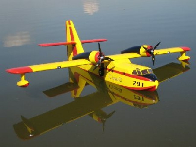 Canadair CL-215 model airplane plan