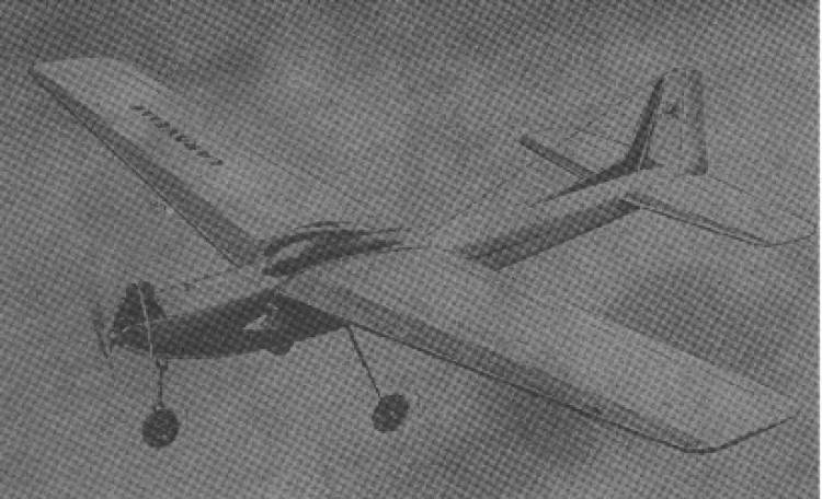 Caravelle model airplane plan