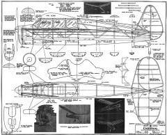 Cardinal Megow 48in model airplane plan