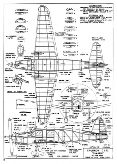 Caudron C645 Simoun model airplane plan