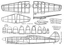 Caudron C-714 Kuenz model airplane plan