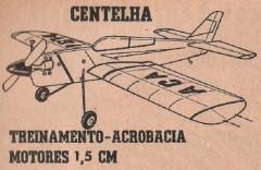 Centelha model airplane plan