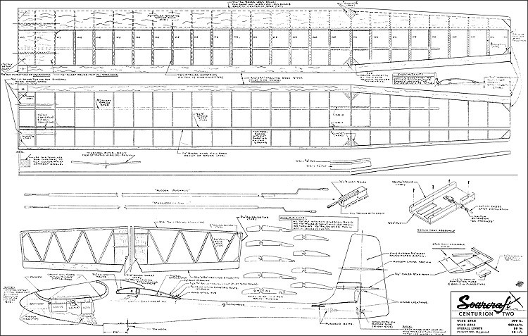 Centurion Two 100in model airplane plan