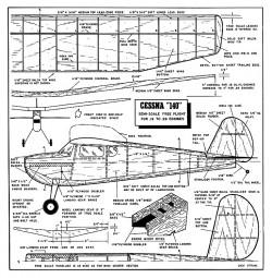 Cessna 140 FM model airplane plan
