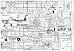 Cessna 182 48in model airplane plan