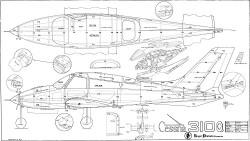 Cessna 310Q Royal Marutaka model airplane plan