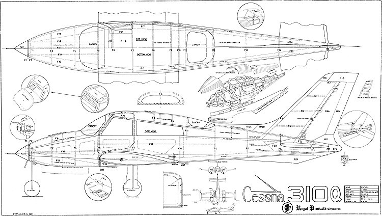 Cessna 310Q Royal Marutaka model airplane plan