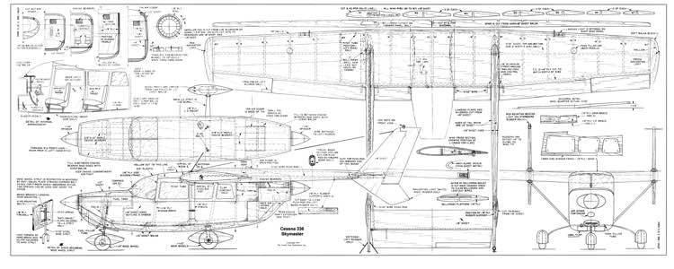Cessna 336 Skymaster CL model airplane plan