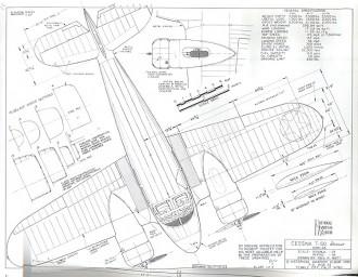 Cessna T50 Bobcat model airplane plan