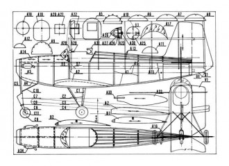 Chai-19 model airplane plan