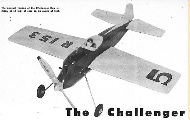 Challenger model airplane plan