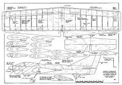 Challenger CL model airplane plan