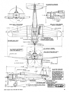 Chance Vough V-143 model airplane plan
