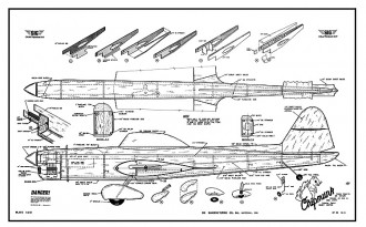 Chipmunk SIG CL model airplane plan