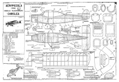 Chrislea Aeropiccola model airplane plan