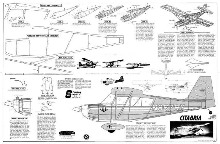 Citabria model airplane plan