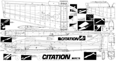 F3A Citation model airplane plan